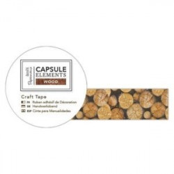 Papermania craft Tape PMA 462114 Elements Wood - Stumps