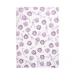 Paper 150gr. flowers metallic (61793)