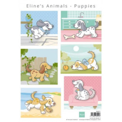 Eline's Animal Puppies AK0079 Marianne Design