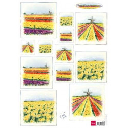 Bulb Fields Windmills IT 0582 Marianne Design