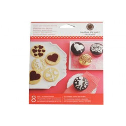MS Heart and Love Cupcake Stencils 8pcs