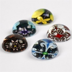 3d Cabochons 14 mm ASS. Farver