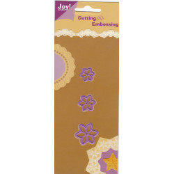 "Joy cutting/emb 3xblomster nr.3"")"