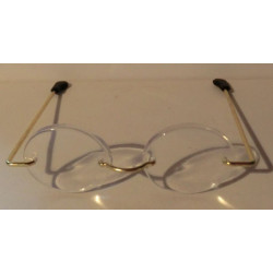 Brille 5 cm oval