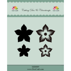 Dixi Craft Dies & Clearstamp MD0090 Flower