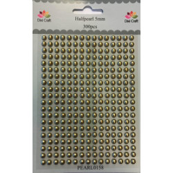 Dixi Craft Halvperler 5 mm PEARL0158 Guld