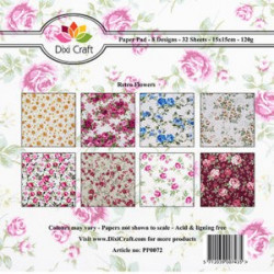 Dixi Craft Papirblok PP0072 Retro Flowers