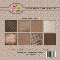Dixi Craft Papirblok PP0071 Steel Background / brown