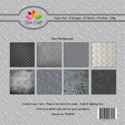 Dixi Craft Papirblok PP0070 Steel Background