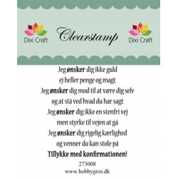 Dixi craft Tekst Stempel 57x55 mm