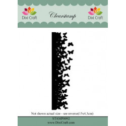 Dixi Craft ClearstampSTAMP0093 Butterfly Landscape
