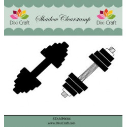 Dixi Craft Shadow Clearstamp STAMP0086 Weightlifing / fitness
