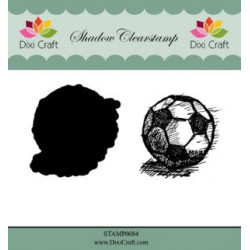 Dixi Craft Shadow Clearstamp STAMP0084 Football
