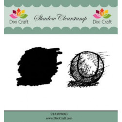 Dixi Craft Shadow Clearstamp STAMP0083 Tennis