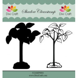 Dixi Craft Shadow Clearstamp STAMP0081 Flower 6