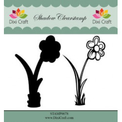 Dixi Craft Shadow Clearstamp STAMP0078 Flower 3