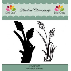 Dixi Craft Shadow Clearstamp STAMP0077 Flower 2